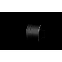 Pelletkachel rookkanaal zwart RVS, Ø80mm premium line, condensdop gesloten - 10026