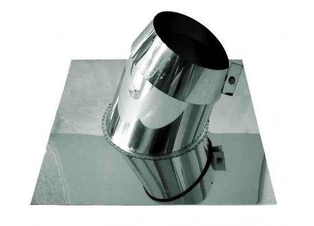 Rookkanaal RVS, 5° - 20° dakdoorvoer/dakplaat hellend, diameter Ø80