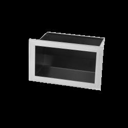 Hitze Ventilatierooster SLIM INOX 120X200mm