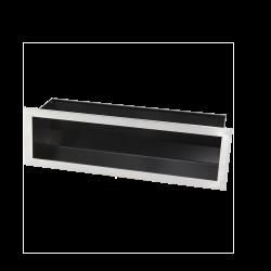 Hitze Ventilatierooster SLIM INOX 120X400mm