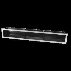 Hitze Ventilatierooster SLIM INOX 120X800mm