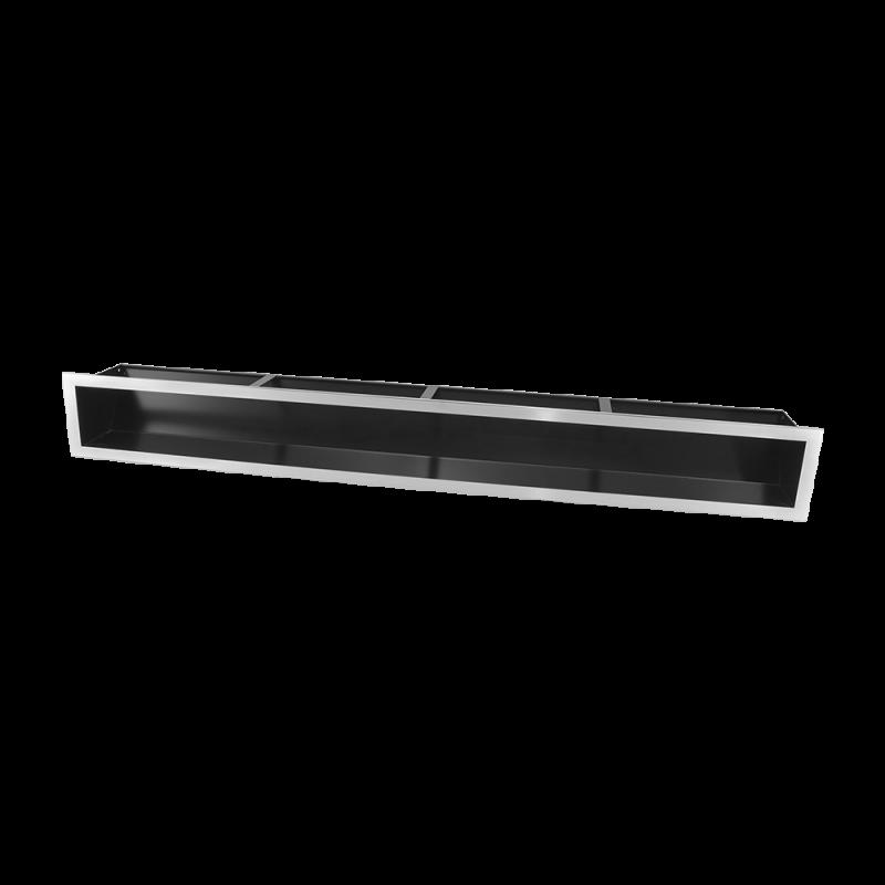 Hitze Ventilatierooster SLIM INOX 120X1000mm - 10211