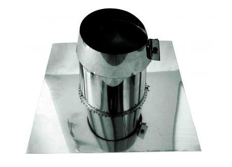 Rookkanaal RVS, 0°5°, dakdoorvoer/dakplaat plat, Ø100 - 1023