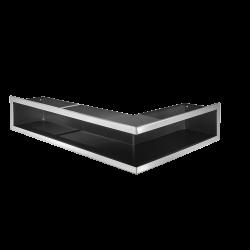 Hitze Ventilatierooster (HOEK) SLIM INOX 600x400x120mm R