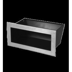 Hitze Ventilatierooster SLIM INOX - 90x200mm