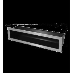 Hitze Ventilatierooster SLIM INOX - 90x400mm