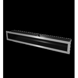 Hitze Ventilatierooster SLIM INOX - 90x600mm