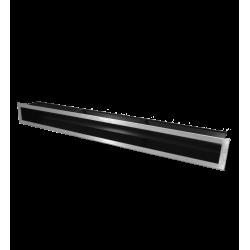 Hitze Ventilatierooster SLIM INOX - 90x800mm