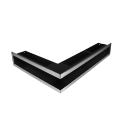 Hitze Ventilatierooster (HOEK) SLIM INOX - 500x400x90mm L