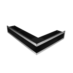 Hitze Ventilatierooster (HOEK) SLIM INOX - 500x400x90mm R