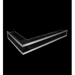 Hitze Ventilatierooster (HOEK) SLIM INOX - 450x800x90mm L