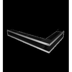 Hitze Ventilatierooster (HOEK) SLIM INOX - 450x800x90mm R