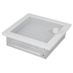 Ventilatierooster 160x160mm Wit Vierkant Gaas - Verstelbaar Pro