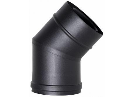 Concentrisch rookkanaal RVS, 45° bocht, diameter Ø80-130mm
