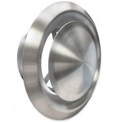 Ventilatierooster Ø125mm RVS Rond - Afvoer