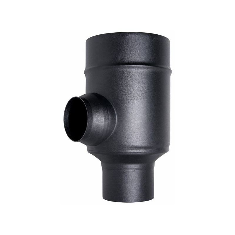 Concentrisch rookkanaal RVS, T-stuk 90°, diameter Ø80-130mm