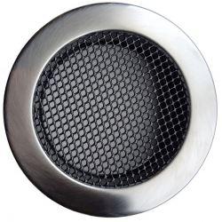 Ventilatierooster Ø100mm RVS Rond - Gaas Rooster