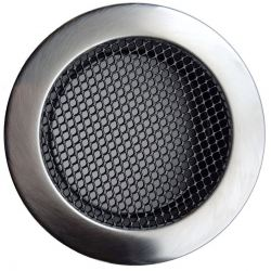 Ventilatierooster Ø160mm RVS Rond - Gaas Rooster