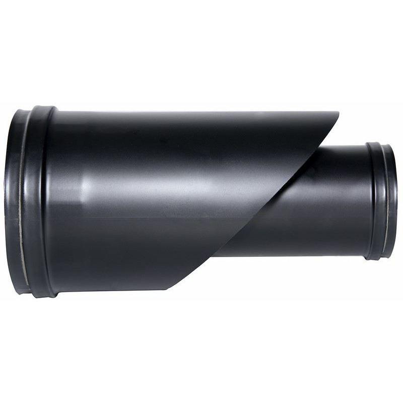 Concentrisch rookkanaal RVS, enkelwandig aansluitstuk, diameter Ø80-130mm - 1078