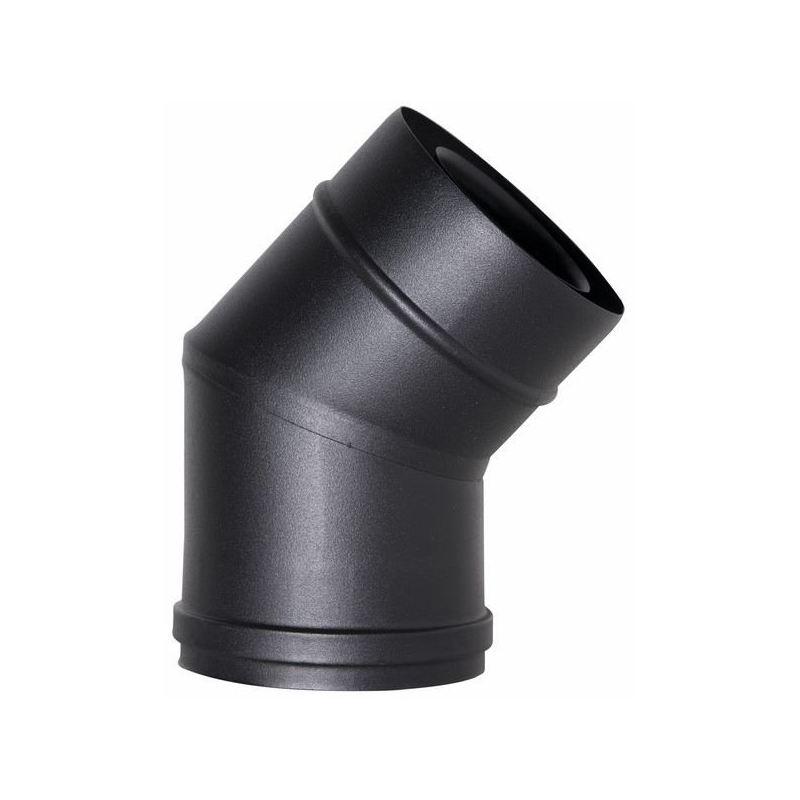 Concentrisch rookkanaal RVS, 45° bocht, diameter Ø100-150mm - 1087