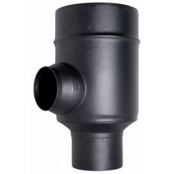 Concentrisch rookkanaal RVS, T-stuk 90°, diameter Ø100-150mm