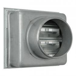 Ventilatierooster 100x100mm, aansluiting Ø60mm