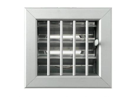 Ventilatierooster 100x100mm, aansluiting Ø60mm - 10970