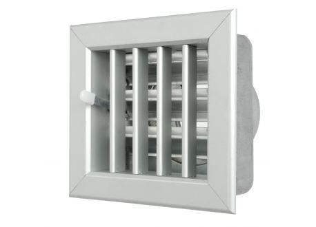 Ventilatierooster 100x100mm, aansluiting Ø60mm - 10972