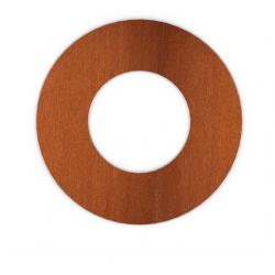 Kachelpijp Cortenstaal, diameter Ø140, rozet met spanveren