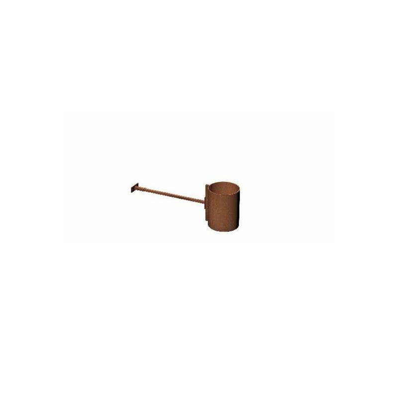 Kachelpijp Cortenstaal, diameter Ø140, muurbeugel verstelbaar - 11378