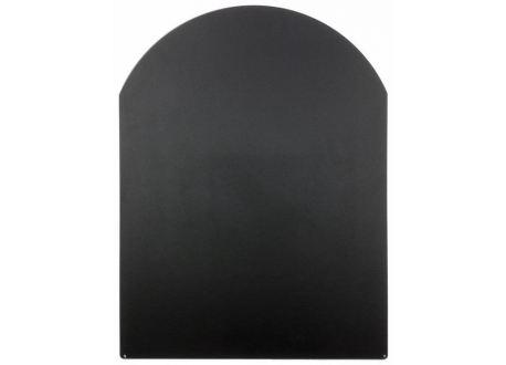 Vloerplaat zwart staal voor kachel, 600x800mm