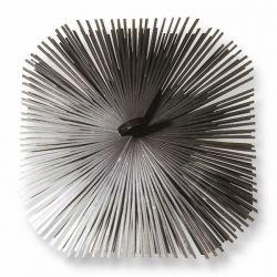 Borstelkop staal, vierkant, 200mm – 200mm