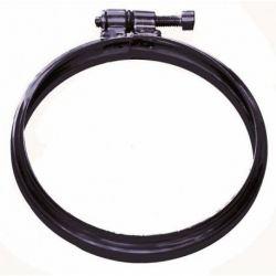 Concentrisch rookkanaal zwart RVS, klemband, diameter Ø150mm - 1483