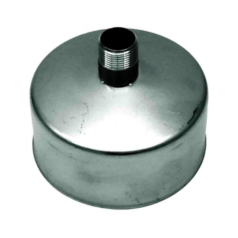 Rookkanaal RVS, Deksel/condens afvoer, diameter Ø140 - 1512