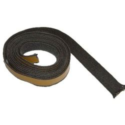Kachelkoord zwart met plakrand. 20mm breed