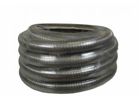 Flexibel dubbelwandig rookkanaal, diameter Ø130, 1000mm pijp
