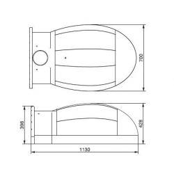 Amphora basis (pizzaoven zelfbouwset) - 2364