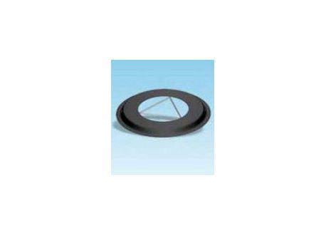 Rozet dikwandig staal, diameter Ø130, met spanveren - 2424