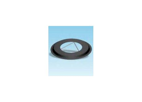 Rozet dikwandig staal, diameter Ø150, met spanveren