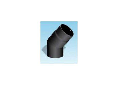 Kachelpijp dikwandig staal, diameter Ø130, 45° bocht met inspectieluik - 2455