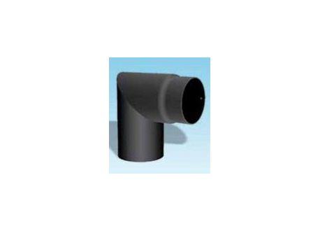 Kachelpijp dikwandig staal, diameter Ø200, 90° hoek - 2489