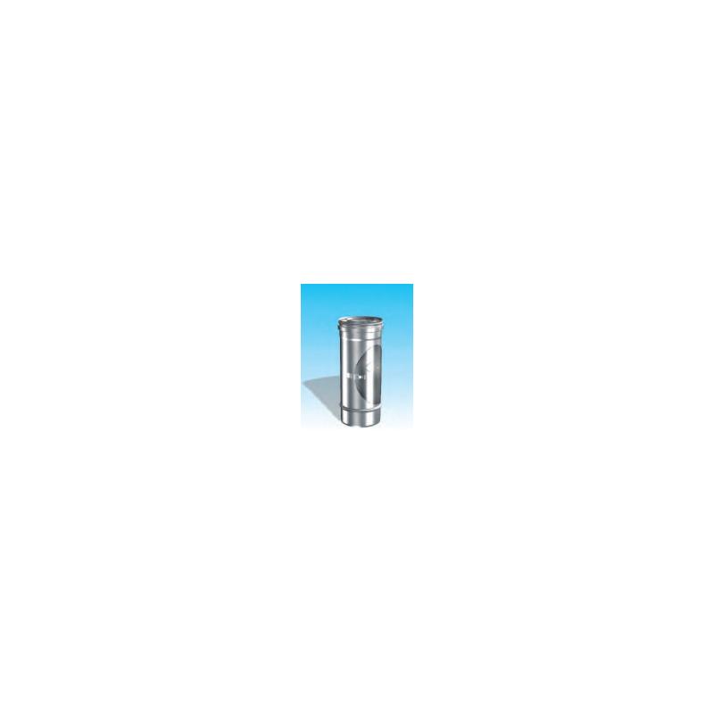 Concentrisch rookkanaal RVS, diameter Ø100-150, inspectie element - 2696