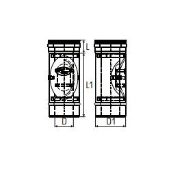 Concentrisch rookkanaal RVS, diameter Ø100-150, inspectie element - 2697