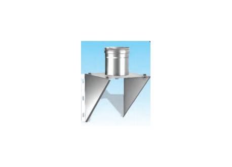 Concentrisch rookkanaal RVS, diameter Ø100-150, stoelconstructie met condensdop - 2700