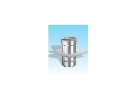 Concentrisch rookkanaal RVS, diameter Ø100-150, Topaansluiting  - 2702