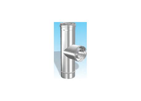 Concentrisch rookkanaal RVS, diameter Ø100-150, T-stuk 90° - 2706
