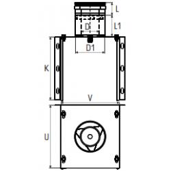 Concentrisch rookkanaal RVS, diameter Ø130-200, stoelconstructie met condensdop - 2750