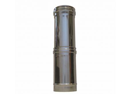 Enkelwandig rookkanaal RVS, Paspijp, diameter Ø200, (300-600mm)   - 311