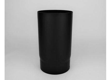 Kachelpijp dikwandig staal, diameter Ø140, 250mm pijp