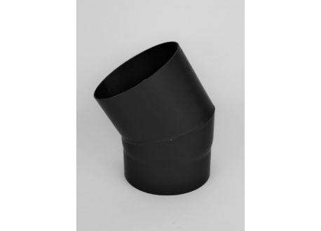 Kachelpijp dikwandig staal, diameter Ø180, 30° bocht
